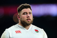 Kieran Brookes of England looks on after the match. RBS Six Nations match between England and Wales on March 12, 2016 at Twickenham Stadium in London, England. Photo by: Patrick Khachfe / Onside Images