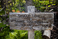 Kachemak Bay State Parks trail sign