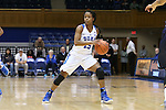 22 November 2016: Duke's Kyra Lambert. The Duke University Blue Devils hosted the Old Dominion University Monarchs at Cameron Indoor Stadium in Durham, North Carolina in a 2016-17 NCAA Division I Women's Basketball game. Duke won the game 92-64.