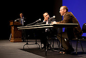 Jeff Holmstead, left, and Nicolas Loris during a panel discussion at the 2012 Duke Environmental Law Conference, titled Conservative Visions of Our Environmental Future, Monday, Sep. 24, 2012.