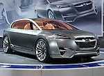 2010 Subaru Hybrid Tourer concept car at an auto show