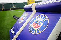 A general view of Bath Rugby branded tackle shields. Aviva Premiership match, between Bath Rugby and Newcastle Falcons on September 10, 2016 at the Recreation Ground in Bath, England. Photo by: Patrick Khachfe / Onside Images