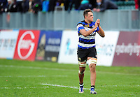 Zach Mercer of Bath Rugby acknowledges the crowd after the match. Aviva Premiership match, between Bath Rugby and Saracens on December 3, 2016 at the Recreation Ground in Bath, England. Photo by: Patrick Khachfe / Onside Images