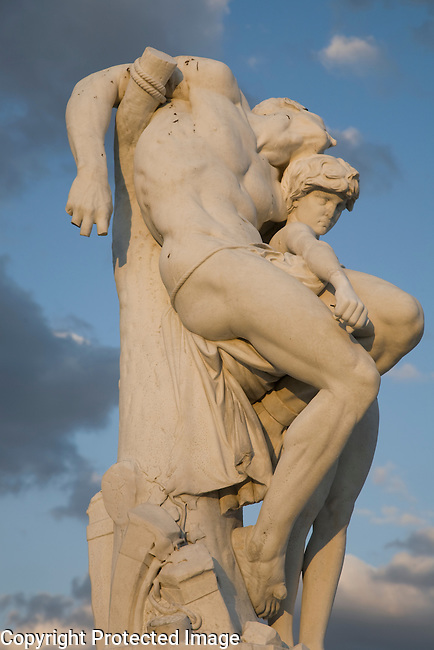 Statue in the Jardin des Tuileries, Paris, France, Europe