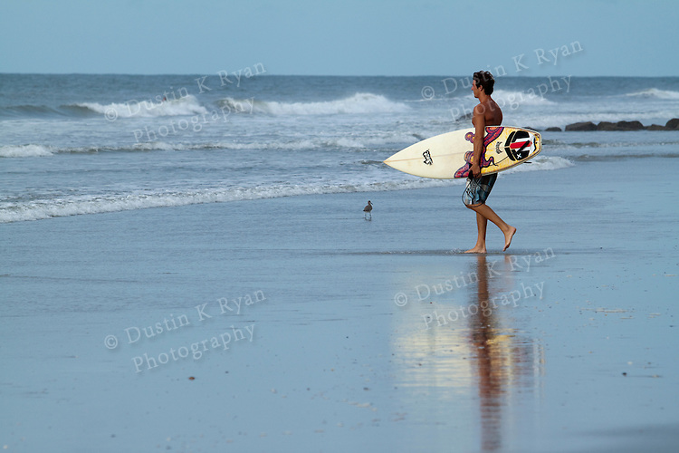 Folly Beach Surfer Surfing waves south carolina