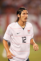 United States midfielder Sacha Kljestan (12). The men's national teams of the United States and Argentina played to a 0-0 tie during an international friendly at Giants Stadium in East Rutherford, NJ, on June 8, 2008.