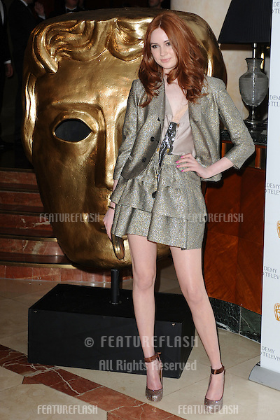 Actress, Karen Gillan arrives for the BAFTA Craft Awards 2010 at the London Hilton, Park Lane, London. 23/05/2010  Picture by Steve Vas/Featureflash