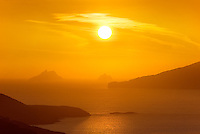 Golden Sunset Ireland - Colourful Sunset overlooking Ballinskelligs Bay with View on The Great Skelligs Ireland /sk021 I love the Skelligs,