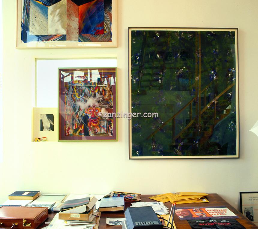 Dennis Hopper, Residence, American actor, filmmaker and artist, Interior, Venice, CA