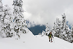 Snowshoeing among the clouds on Hurricane Ridge, Olympic National Park.