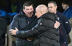 St Johnstone v Rangers&hellip;28.12.16     McDiarmid Park    SPFL<br />Tommy Wright and Mark Warburton before kick off<br />Picture by Graeme Hart.<br />Copyright Perthshire Picture Agency<br />Tel: 01738 623350  Mobile: 07990 594431