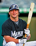 1 March 2009: Florida Marlins' second baseman Dan Uggla prepares to take batting practice prior to a Spring Training game against the St. Louis Cardinals at Roger Dean Stadium in Jupiter, Florida. The Cardinals outhit the Marlins 20-13 resulting in a 14-10 win for the Cards. Mandatory Photo Credit: Ed Wolfstein Photo