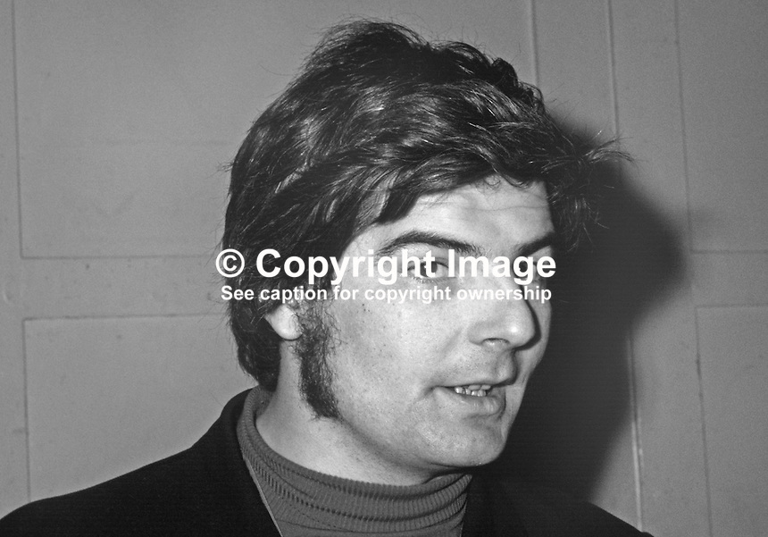Kevin Boyle, prominent member, N Ireland Civil Rights Association, 197202120054a.<br />