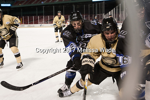 Ryner Gorowsky (Bentley - 22), Nick DeCenzo (Army - 6), Max French (Bentley - 16) - The Bentley University Falcons defeated the Army West Point Black Knights 3-1 (EN) on Thursday, January 5, 2017, at Fenway Park in Boston, Massachusetts.The Bentley University Falcons defeated the Army West Point Black Knights 3-1 (EN) on Thursday, January 5, 2017, at Fenway Park in Boston, Massachusetts.