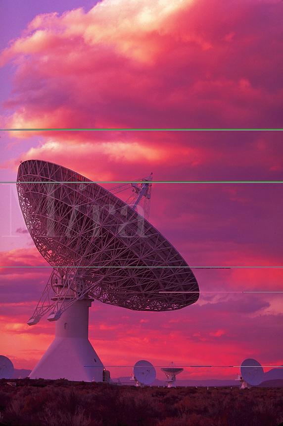 Radio Telescope Array, Owens Valley, Big Pine, California.
