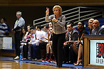 11 February 2016: Florida State head coach Sue Semrau. The Duke University Blue Devils hosted the Florida State University Seminoles at Cameron Indoor Stadium in Durham, North Carolina in a 2015-16 NCAA Division I Women's Basketball game. Florida State won the game 69-53.