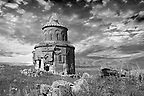 The Armenian church of St Gregory of the Abughamrents, Ani archaelogical site on the Ancient Silk Road , Kars , Anatolia, Turkey