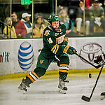 17 October 2015:  University of Vermont Catamount Forward Kevin Irwin, a Sophomore from Akron, Ohio, in second period action against the University of Nebraska Omaha Mavericks at Gutterson Fieldhouse in Burlington, Vermont. The Catamounts fell to the Mavericks 3-1. Mandatory Credit: Ed Wolfstein Photo *** RAW (NEF) Image File Available ***