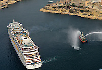 Aida Cruiseliners in 4 formation destination Grand Harbour on 23-09-2014.