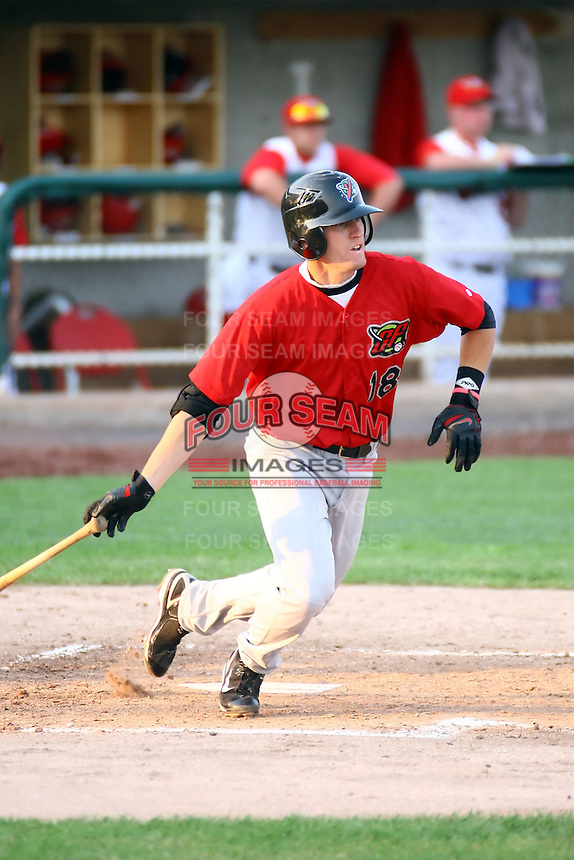 July 10th 2008:  Tyler Kuhn of the Great Falls Voyagers, Rookie Class-A affiliate of the Chicago White Sox, during a game at the Home of the Owlz Stadium in Orem, UT.  Photo by:  Matthew Sauk/Four Seam Images