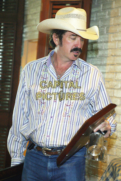 "KIX BROOKS.#1 party for ""Play Something Country""-BMI-Nashville, Tennessee.Brooks & Dunn & Terry McBride.September 21st, 2005.Photo Credit: Randi Radcliff/AdMedia/Capital Pictures.Ref: RR.half length cowboy hat facial hair.www.capitalpictures.com.sales@capitalpictures.com.© Capital Pictures."