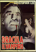 BNPS.co.uk (01202 558833)<br /> Pic: Cottees/BNPS<br /> <br /> Dracula Il Vampiro Italian 1980's poster, starring Christopher Lee, 'Rotolitoservice - Roma', 39.<br /> <br /> A horror fan has sold his chilling collection of cult movie posters - for a shocking &pound;25,000.<br /> <br /> The unnamed film buff collected over 100 posters that advertised scary movies like Dracula, Frankenstein, The Wicker Man and the Hammer Horror franchise.<br /> <br /> He has now sold them at Cottees Auctions of Wareham, Dorset, with one rare Dracula poster fetching over &pound;5,000 alone.