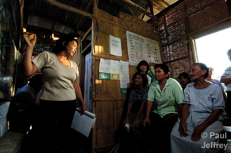 Adult literacy classes in Kahayag, Mindanao, taught by volunteer teachers from the community.
