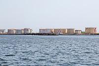 Dakar, Senegal.  Oil Storage Tanks, Port of Dakar.