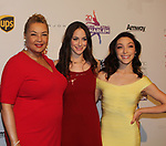 Dr. Geneva Williams, Alissandra Aronow, Meryl Davis cochairs of Figure Skating in Detroit at Figure Skating in Harlem celebrates 20 years - Champions in Life benefit Gala on May 2, 2017 at 583 Park Avenue, New York City, New York. (Photo by Sue Coflin/Max Photos)