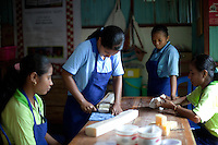 February 23rd, 2013_ Baucau, TIMOR-LESTE_ Members of the Ai-Funan soap, woman's cooperative in Baucau, Timor-Leste work to produce all natural handmade soap bars.    Photographer: Daniel J. Groshong/The Hummingfish Foundation