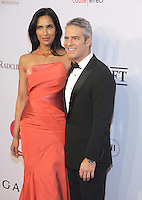 NEW YORK, NY - NOVEMBER 02: Padma Lakshmi and  Andy Cohen attends 15th Annual Elton John AIDS Foundation An Enduring Vision Benefit at Cipriani Wall Street on November 2, 2016 in New York City.Photo by John Palmer/ MediaPunch