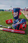 3 March 2016: Washington Nationals batting practice equipment lies ready prior to a Spring Training pre-season game against the New York Mets at Space Coast Stadium in Viera, Florida. The Nationals defeated the Mets 9-4 in Grapefruit League play. Mandatory Credit: Ed Wolfstein Photo *** RAW (NEF) Image File Available ***