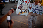 A Tea Party supporter    at a rally for Republican presidential candidate Michele Bachmann at Iowa State, the site of the Straw Poll in Ames, Iowa, August 12, 2011.