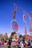 Dreamcatchers on Display at the Pacific Rim Whale Festival in Tofino, on Vancouver Island, British Columbia, Canada