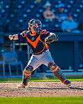 28 February 2017: Houston Astros catcher Tyler Heineman in Spring Training action against the Washington Nationals at the Ballpark of the Palm Beaches in West Palm Beach, Florida. The Nationals defeated the Astros 4-3 in Grapefruit League play. Mandatory Credit: Ed Wolfstein Photo *** RAW (NEF) Image File Available ***