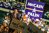 Senator John McCain and Governor Sarah Palin election rally, Sept. 9th, 2008 at Franklin and Marshall College, Lancaster, Pa. Republican candidates for President & Vice-President of the United States of America