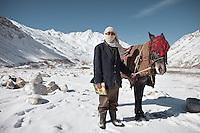 Going to school, in Kret village, Wakhan Corridor, Afghanistan.