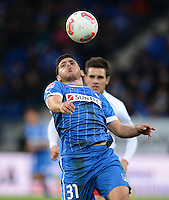 FUSSBALL   1. BUNDESLIGA   SAISON 2012/2013   20. SPIELTAG    TSG 1899 Hoffenheim - SC Freiburg      02.02.2013 Kevin Volland (TSG 1899 Hoffenheim) am Ball
