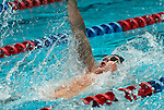 24 MAR 2012:  Robert Barry of Denison swims in the 200 yard backstroke event during the Division III Mens and Womens Swimming and Diving Championship held at the IU Natatorium in Indianapolis, IN.  Barry won the event with a time of 1:46.23. Michael Hickey/NCAA Photos
