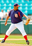 14 March 2006: Livan Hernandez, pitcher for the Washington Nationals, on the mound during a Spring Training game against the Florida Marlins. The Marlins defeated the Nationals 2-1 at Space Coast Stadium, in Viera, Florida...Mandatory Photo Credit: Ed Wolfstein..