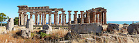Fallen column drums of Greek Dorik Temple ruins  Selinunte, Sicily photography, pictures, photos, images & fotos. 60