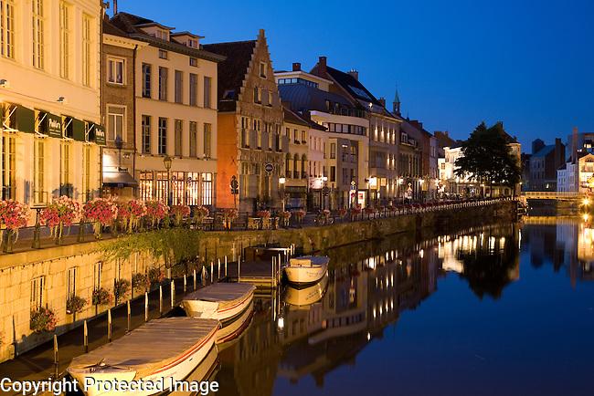 Canal; Ghent; Belgium; Europe