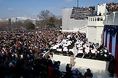 Washington, DC - January 20, 2009 -- 44th United States President Barack Obama addresses the audience during his inaugural address, at the United States Capitol in Washington, D.C., Tuesday, January 20, 2009.Credit: Chad J. McNeeley - DoD via CNP