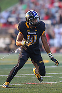 Towson, MD - September 9, 2016: Towson Tigers linebacker Jordan Mynatt (41) in action during game between Towson and St. Francis at Minnegan Field at Johnny Unitas Stadium  in Towson, MD. September 9, 2016.  (Photo by Elliott Brown/Media Images International)