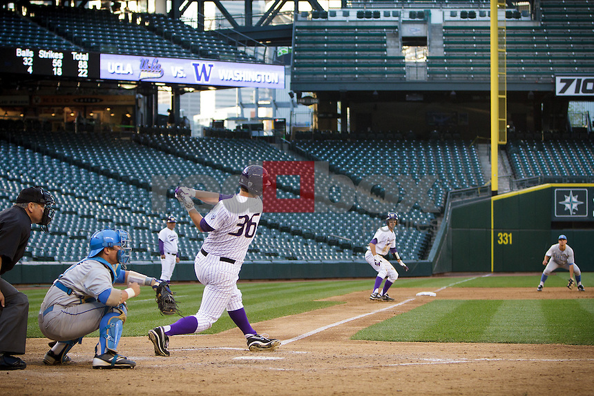 University of Washington Huskies baseball team takes on the UCLA at Safeco Field in Seattle Friday, May 12, 2012. (Photos by Andy Rogers/Red Box Pictures)