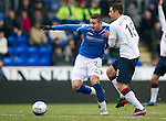 St Johnstone v Rangers...14.01.12  .Marcus Haber and Carlos Bocanegra.Picture by Graeme Hart..Copyright Perthshire Picture Agency.Tel: 01738 623350  Mobile: 07990 594431