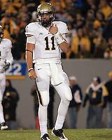 Pitt quarterback Bill Stull. The West Virginia Mountaineers defeated the Pittsburgh  Panthers 19-16 on November27, 2009 at Mountaineer Field at Milan Puskar Stadium, Morgantown, West Virginia.