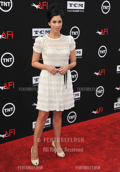Sarah Silverman at the 41st AFI Life Achievement Award honoring Mel Brooks at the Dolby Theatre, Hollywood.<br /> June 6, 2013  Los Angeles, CA<br /> Picture: Paul Smith / Featureflash