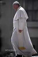 Pope Francis during general audience at the Vatican,March 11, 2015