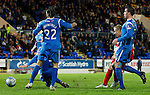 St Johnstone v Inverness Caledonian Thistle.....25.04.11.Richie Foran scores the third.Picture by Graeme Hart..Copyright Perthshire Picture Agency.Tel: 01738 623350  Mobile: 07990 594431